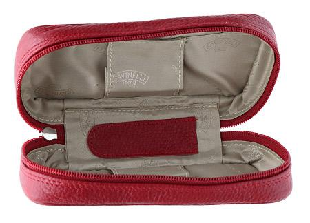 Pipe Accessories Savinelli 3 Pipe Pouch Bordeaux