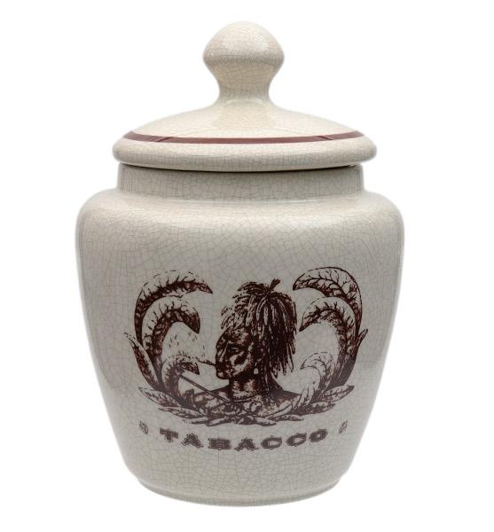 Pipe Accessories Savinelli Small Antique Ceramic Tobacco Jar