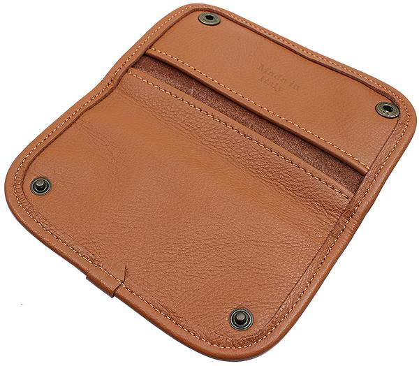 Pipe Accessories Claudio Albieri Italian Leather Tobacco Pouch Deluxe Russet