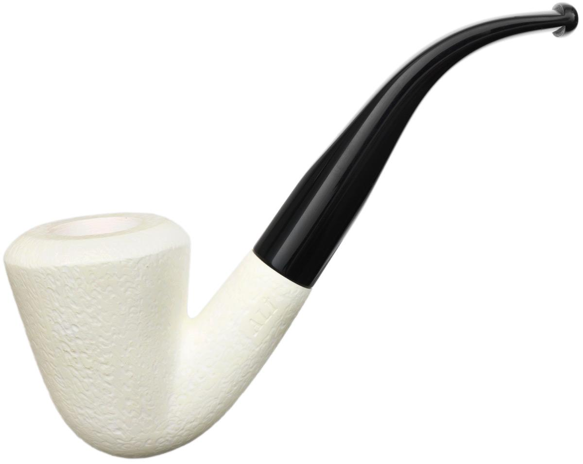AKB Meerschaum Rusticated Bent Dublin (Ali) (with Case)