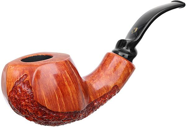 Crown Partially Rusticated Paneled Bent Pot (9mm) (Viking)