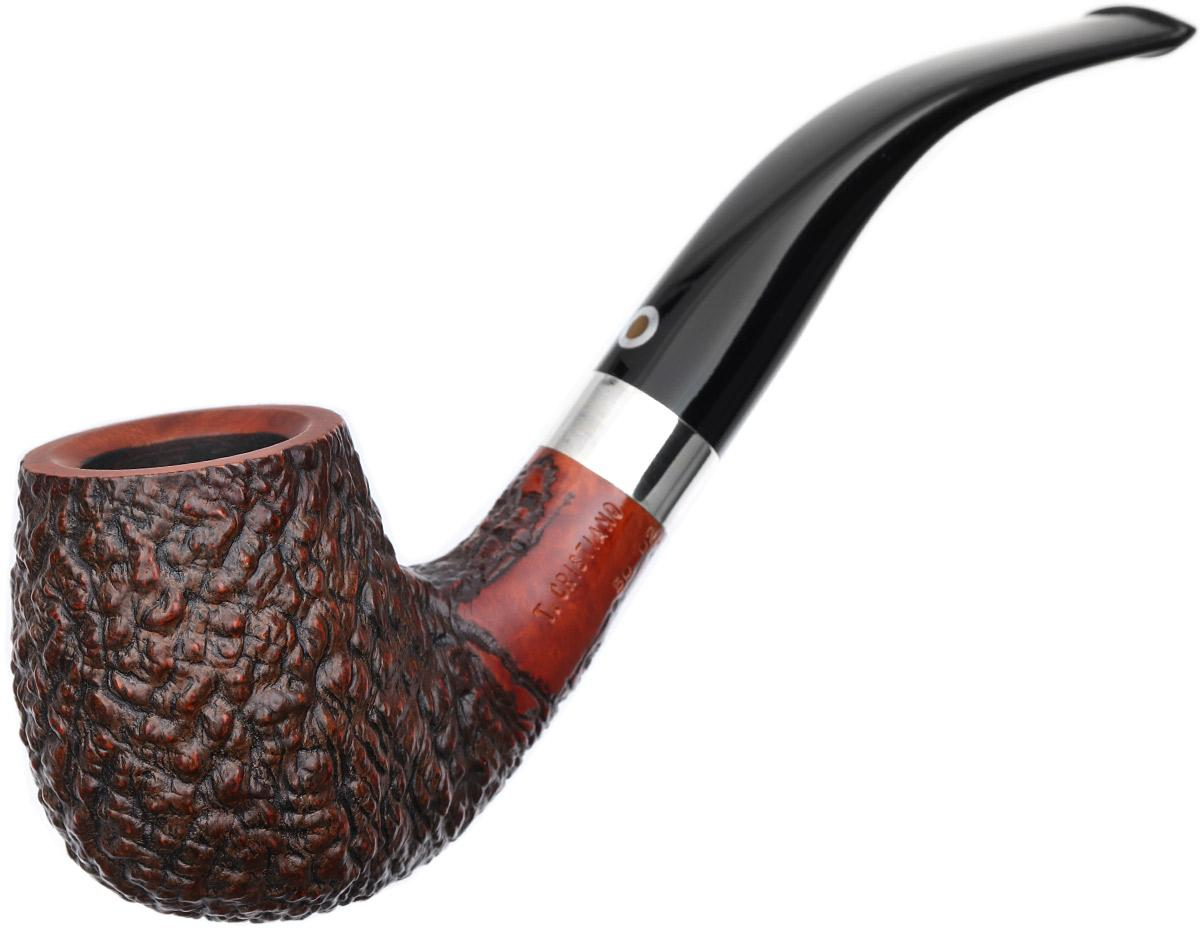 Italian Estates T. Cristiano Metamorfosi Rusticated Bent Billiard with Silver (50) (D2) (9mm) (Unsmoked)
