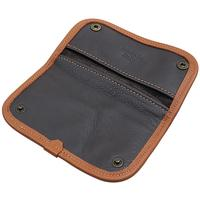 Pipe Accessories Claudio Albieri Italian Leather Tobacco Pouch Deluxe Chocolate/Russet