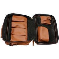 Pipe Accessories Claudio Albieri Italian Leather 4 Pipe Bag Russet