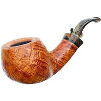 Neerup P. Jeppesen Handmade Ida Easy Cut Sandblasted Bent Pot (3) (9mm)