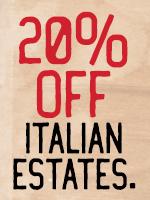 20% Off All Italian Estates